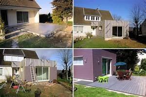 decouvrez la construction d39une extension en bois With plan maison en longueur 2 extension de maison traditionnelle pour agrandir sa maison