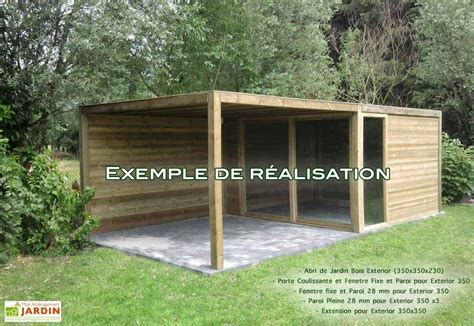 abri cuisine cing abri de jardin bois exterior 350x350x230 gardival