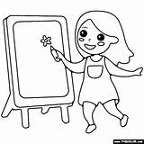 Easel Painting Coloring Rated sketch template