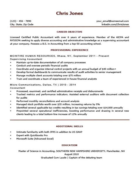 Free Exle Of Resume Objectives by Basic Resume Templates Browse Print Resume Companion