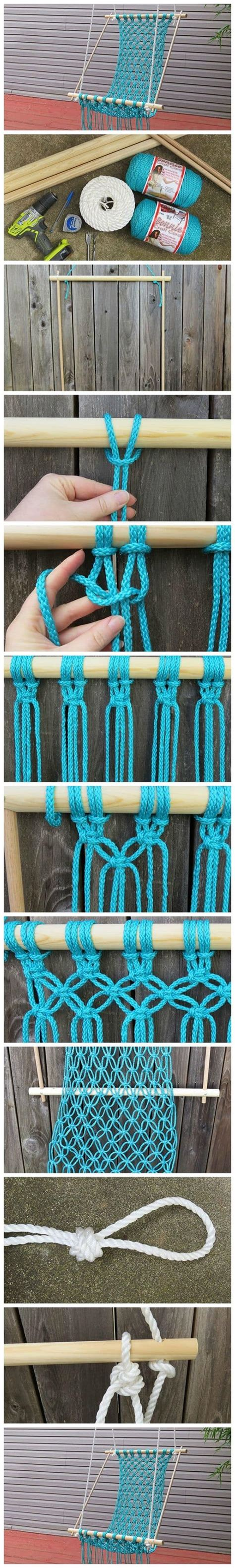 diy macrame hammock chair macrame hanging chair diy is easy to make Diy Macrame Hammock Chair