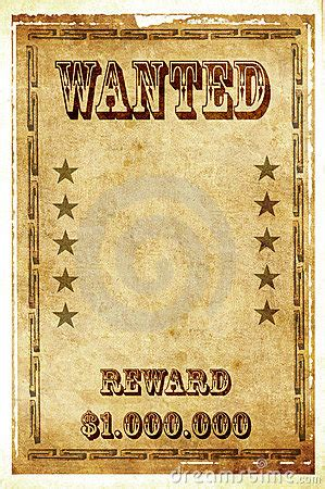 wanted vintage poster royalty  stock photography