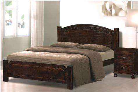 Double Platform Wood Bed Frame With Mattress Full Imagas