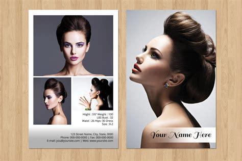 professional model comp card model agency zed card etsy