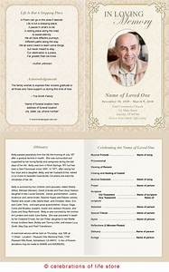 best photos of funeral service program template sample With funeral handouts template