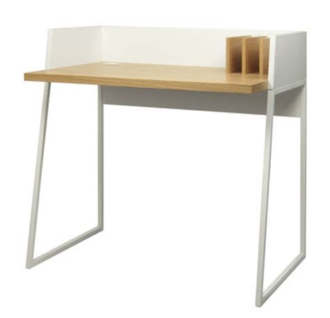 bureau design blanc working desk white oak by pop up home