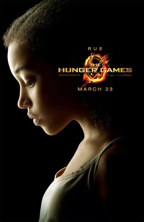 how was rue in the hunger hunger games rue character poster starcasm net