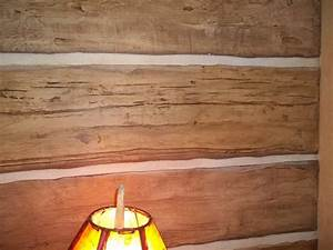 Hand Carved Faux Log Wall Rustic Other By Beautiful