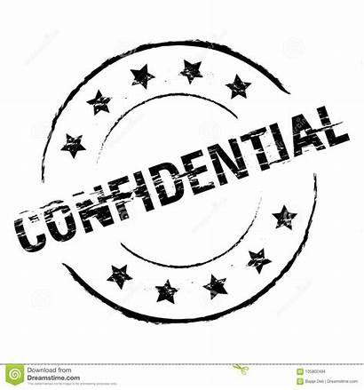 Confidential Stamp Grunge Vertrouwelijk Rubber Nero Timbro