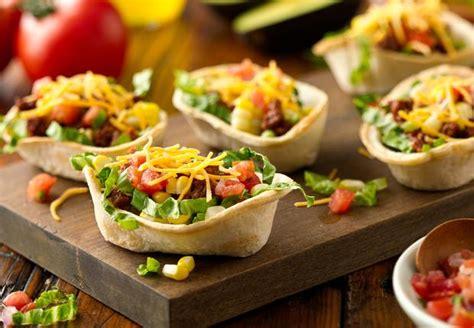 Taco Burrito Boats by Mini Taco Salad Boats Recipe From El Paso