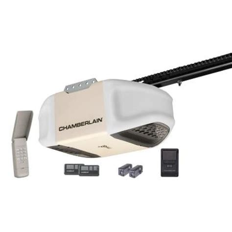 chamberlain garage door opener myq chamberlain 1 2 hp myq enabled chain drive garage door