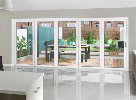 white bifold doors bi fold doors premium external bifolding doors 187 vufold