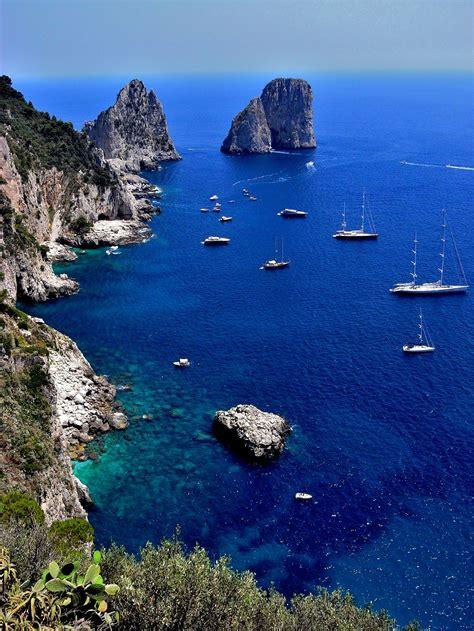 Visit Of Capri And Mount Vesuvius In The Bay Of Naples Italy