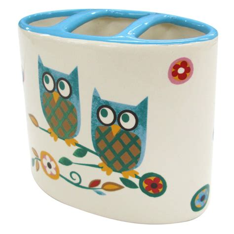 colormate owl garden toothbrush holder