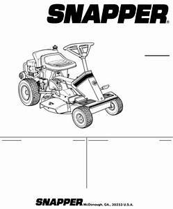 Snapper Lawn Mower E250816be User Guide