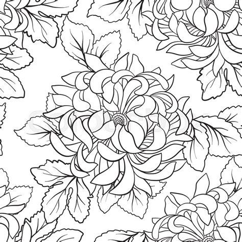 seamless pattern  chrysanthemum  stock vector