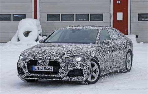 All-new 2017 Audi A5 Sportback 4-door Coupe Spied For The