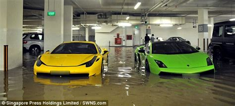Supercars Costing Millions Wrecked By Flash Flood In