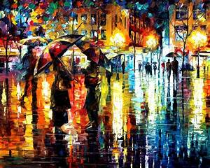 CLOSE ENCOUNTER — PALETTE KNIFE Oil Painting On Canvas By ...