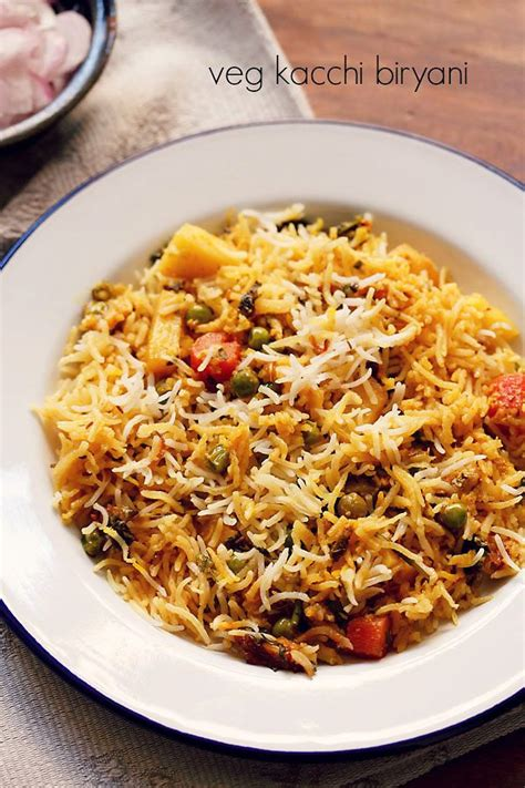 hyderabadi veg biryani recipe kacchi veg hyderabadi biryani
