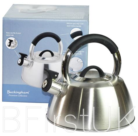 kettle stove induction gas electric steel stainless whistling teapot 6l
