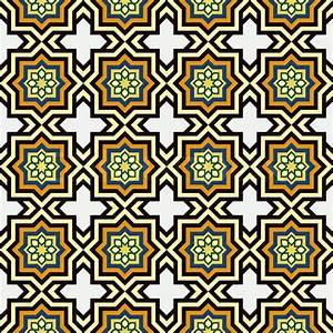 Islam style background, geometric seamless pattern