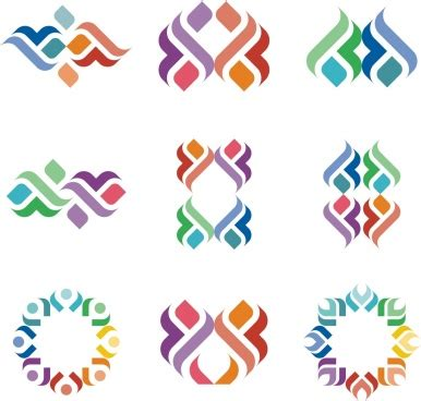 Abstract Shapes Collection by Colorful Abstract Shape For Logo Design Free Vector In