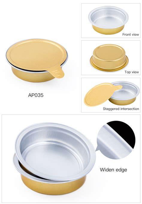 ml oz gold sauce jar sealing aluminum foil container cake cup  lid disposable aluminum