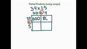 Partial Products Using Arrays
