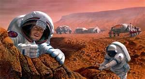 Astronauts Study Rocks on Mars | Mars Image