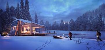 winter cottage visualisation of a mountain retreat xoio