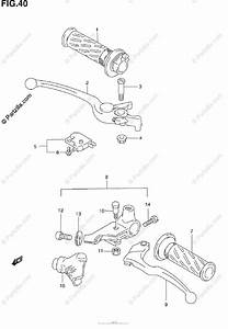 Suzuki Motorcycle 2004 Oem Parts Diagram For Handle Lever