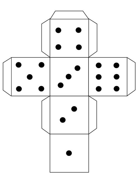 Dice Template Dye Cube Template Free To Use Paper Crafts Templates