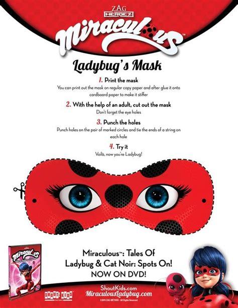 miraculous tales  ladybug cat noir printable masks