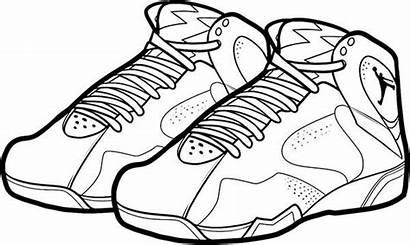 Coloring Jordan Shoes Shoe Pages Air Nike