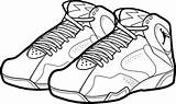 Coloring Jordan Shoes Pages Air Nike Shoe Drawing Printable Lebron Jordans Sneakers Bordeaux Sheets Basketball Michael Dunking Clipart Drawings Clipartmag sketch template