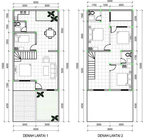 denah gambar rumah minimalis  lantai
