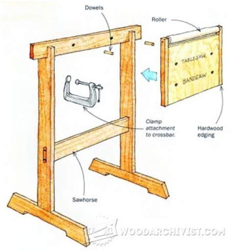 wooden roller stand plans woodarchivist