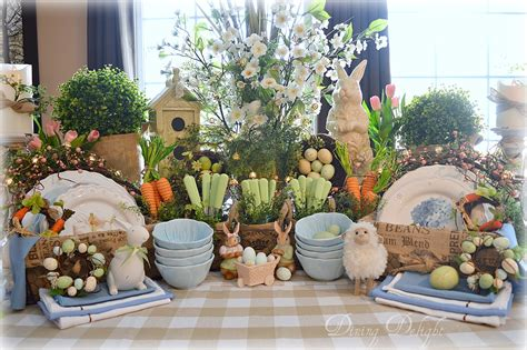 Eastern Kitchen Buffet by Dining Delight Easter Buffet Decor