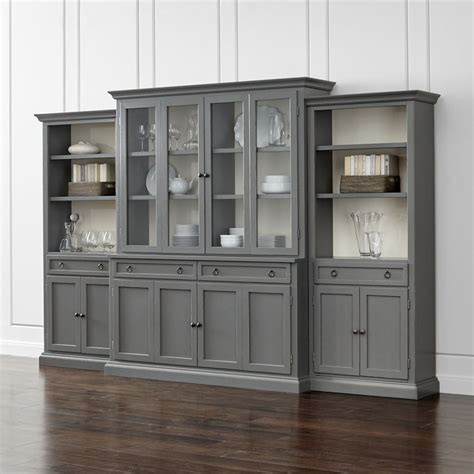 Living Room Glass Unit by Cameo 4 Modular Grey Glass Door Wall Unit With