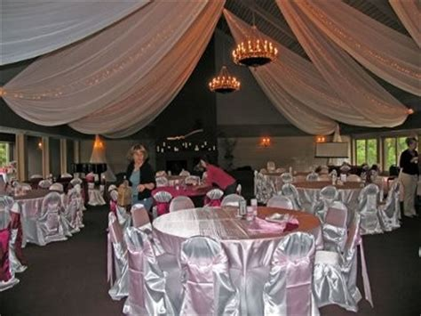 How To Hang Ceiling Drapes For A Wedding by Ceiling Drapery What Fabric To Use Weddings