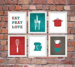 best 25 red kitchen decor ideas on pinterest red With kitchen cabinets lowes with coral and teal wall art