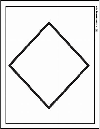 Diamond Shape Coloring Pages Preschoolers Shapes Triangles
