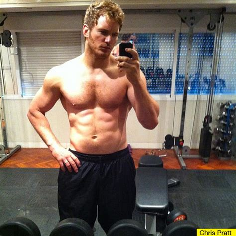 chris pratt shirtless reveals muscles for guardians of