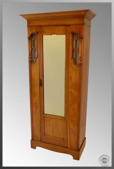 Coat Cupboard by Nouveau Satinwood Cupboard Cloak Cabinet C1900