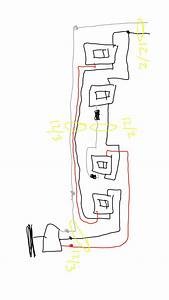 Unique Wiring Diagram For Light With 3 Switches  Diagram