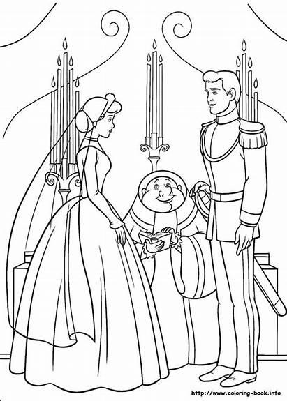 Coloring Cinderella Princess Disney Pages Games Prince