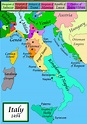 Image - Map of Italy, 1494.png - The Borgias Wiki