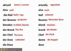 False Friends / cognates between German and English - www