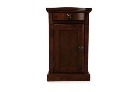 ashley furniture end table with power ashley burkesville power chairside table mathis brothers